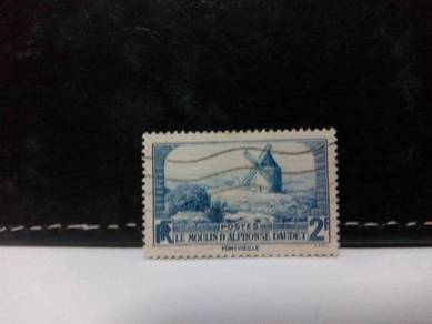 1936 France Stamp, Windmill