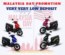 SUPER low deposit promotion for malaysia day beat