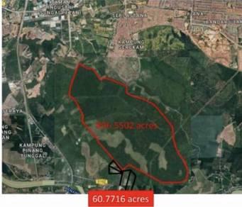 Strategic land for sale near Kulim Airport