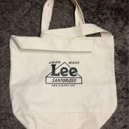 LEE 2 way tote bag with zipper