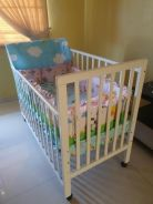 Used Baby Stroller and Bedding Set