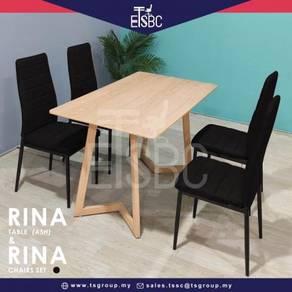 Rina table (120x70 cm)   4 kara chairs