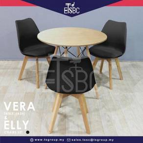 Vera table 80 cm + 3 elly chairs