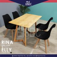 Vera table (120x70 cm) + 4 elly chairs