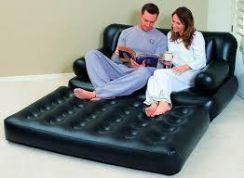 Air Sofa Bed Double With Pump Electric