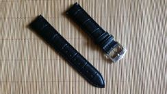 LONGINES 20 mm Black Genuine Leather Watch Strap