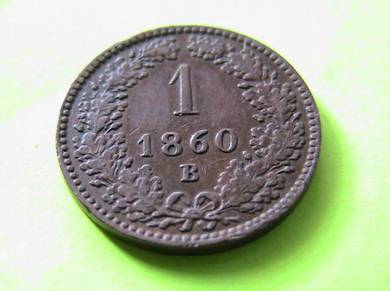 Austria 1 Kreuzer 1860 B [Kod : A0743]