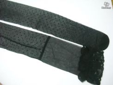 AS041-2 Sexy Black Dot Sheer Stockings Thigh