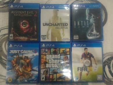 Cd games PS4 untuk dijual