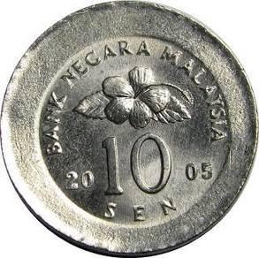 SYILING ERROR MALAYSIA 10 Cents