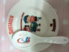 Sustagen plate and The Store spoon