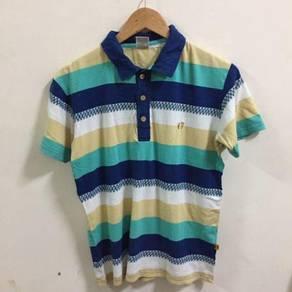 Hang Ten Striped Shirt Size M Hawaii Hawaiian