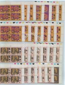 Mint Stamp Flower Definitive 1979 1c 2c Block 4