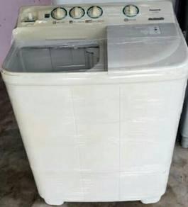 Mesin basuh semi auto panasonic 8kg
