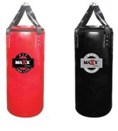 MAXX FITNESS Punching Bag Leather- BLACK