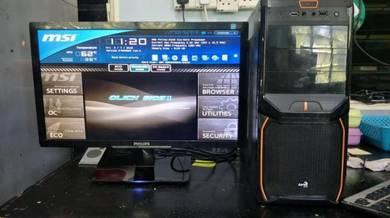 Amd fx-6100 six core led 22 inci gaming