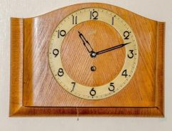 Antique baduf germany mechanical wall clock