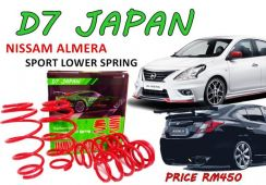 ALMERA NISMO D7 JAPAN Sport Spring Lower SET 2