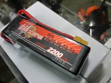 Wild Scorpion 11.1v 2200mah 30c 3s Rc Lipo Battery
