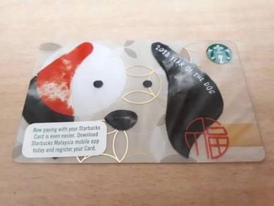 Starbucks Malaysia Dog Card with diamond marks