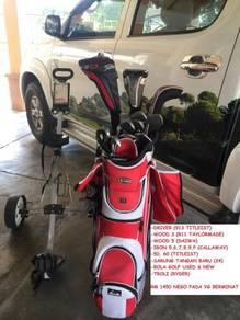 Golf woods iron titleist honma taylormade callaway