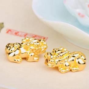24K Gold Plated Pixiu Pi Xiu Pi Yao Naga Borong