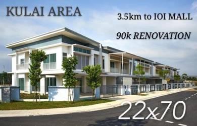 AAA KULAI NEW 2 STOREY WITH 90K RENOVATION NEAR bandar indahpura SENAI