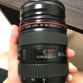 Canon 24-70 f2.8 L lens