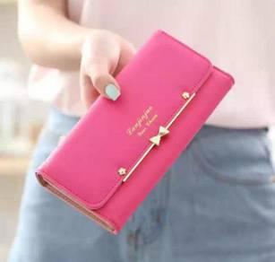Sharp pink wallet