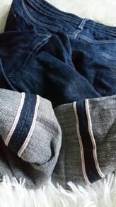 Dark Blue Black Selvedge Jeans