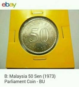 Duit syiling 50sen ~ 1973 Parlimen Malaysia