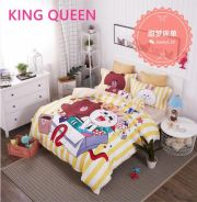 5in1 Line & Cony Cartoon Bed sheet Fitted Bedsheet