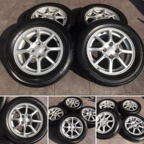 Rim Ori Bezza Siap Tyre 70-80% axia bezza myvi flx