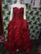Dress weding red marron size S fit to L