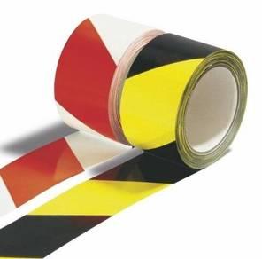 Adhesive floor hazard warning tape