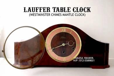 Jam Meja Lauffer - Westminster Chimes Mantle Clock