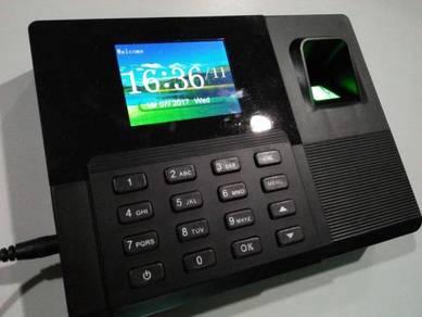 Fingerprint time attendance punch card clock