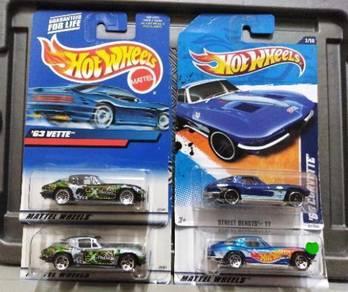 Hot Wheels '63 Corvette Lot 4pcs