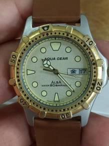 Vintage Alba aqua gear diver watch