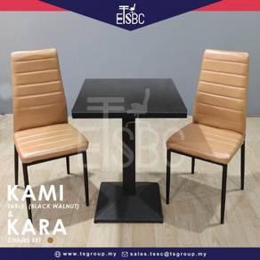 Kami table (60cm) + 2 kara chairs