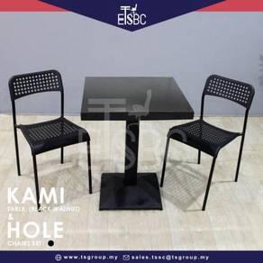 Kami table (60cm) + 2 hole chairs