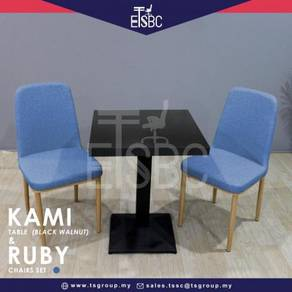 Kami table (60cm) + 2 ruby chairs