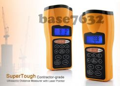Ultrasonic Laser Distance Meter Measurer Rangefin