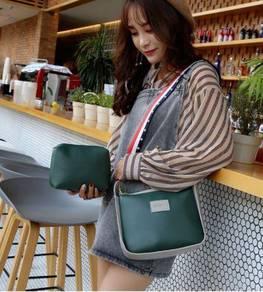 2in1 green slingbag