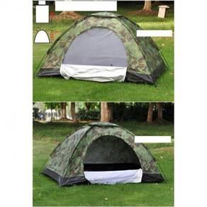Camo army camping tent / khemah 08