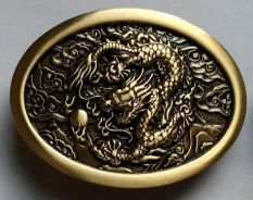 Solid Brass Buckle Dragon