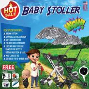 New Baby Stroller 5Wheels Fordable & Portable