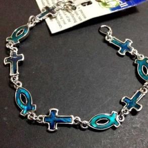 Paua Sea Shell Bracelet - Symbols