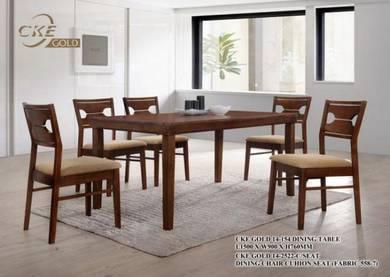 Timber wood dining set