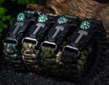 3 pcs Emergency Paracord Survival Bracelet